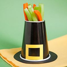 How to Make Parents Magazine's Howdy, Pilgrim Veggie Cups