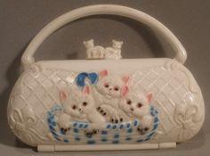 Child's Vintage Plastic Cat Purse