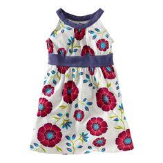 i love the pattern on this dress!  African Poppy Halter Dress #TeaSummer