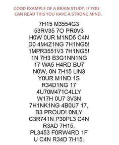 I'm sure it doesn't really mean anything if you can or can't read this, but kind of neat