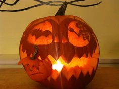 Hungry Pumpkin, Sent by Laia R., of Winthrop, MA, in the 2013 Pumpkin Carving Contest | thisoldhouse.com