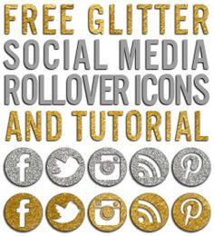 Free glitter blog social media icons + rollover tutorial via. itbritt.com #blogger #free #tools #glitter  http://www.itbritt.com/2013/08/image-sit-stay.html
