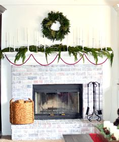 christmas mantle 2012 (decorating a holiday mantle) @cleverlyinspired (10)