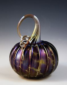 Amethyst Pumpkin by Jack Pine Studios  (blown glass)