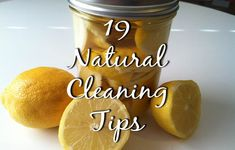 19 Natural Cleaning Tips. Includes: Oven cleaning, microfiber cloths that clean w/ just water, removing tough scum, table for treating clothes stains, cleaning dishwasher, recipes for air fresheners, removing urine stains, cleaning showerheads, cleaning car upholstery, cleaning toilets, cleaning stove vent, homemade laundry soap.