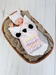 Owl Cocoon crochet pattern download from AnniesCatalog.com. The breastplate is made in the ever-popular crocodile stitch!