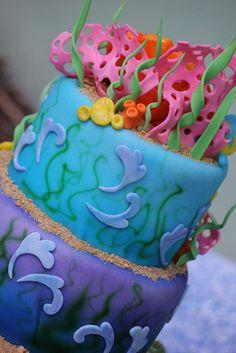 Ariel Cake by Sweet Charity's, via Flickr