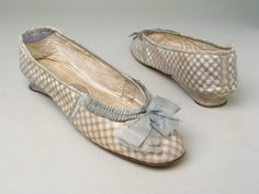 Evening shoes ca. 1800-1810 via Manchester City Galleries