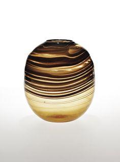 "CARLO SCARPA,  ""fili"" glass vase, Venini, ca. 1942."