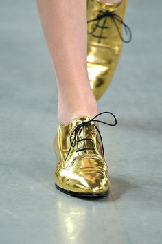 Gold shoes :)