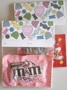 Free printable valentine's candy bag
