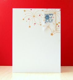 Happy 4th Of July Card by Cristina Kowalczyk for Papertrey Ink (May 2013)