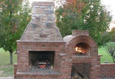 The Riley Family Wood-Fired DIY Brick Pizza Oven and Fireplace combo in Kentucky - BrickWood Ovens