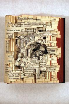Sculptures de livres