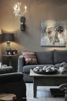Living rooms on pinterest fireplace living rooms rustic wood ta - Sofa landelijke stijl stijlvol ...