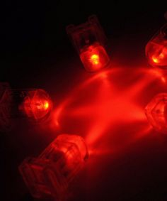 AquaBrites Red   LED Submersible Lights    5 for $8 / $1.60 each centerpiec, submers light