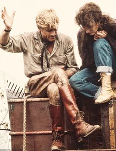 Meryl Streep & Robert Redford | On the set of Out Of Africa, 1985