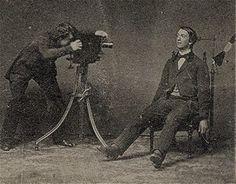 Victorian post mortem photographer at work
