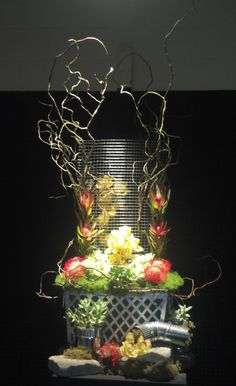 Beautiful and creative arrangement done by Emma's Flowers in Nashville for a flower show.