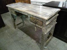 """Moorish Arch Desk  AV002 - $473  48""""W x 18.25""""D x 32""""H  #NadeauNashville"""