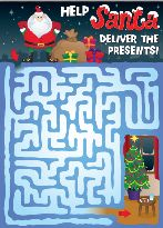 Free Christmas Activities - Santa Maze