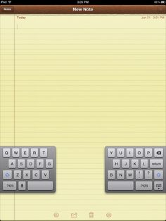 How to Split the iPad Keyboard