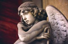 cemetery angel sculpture