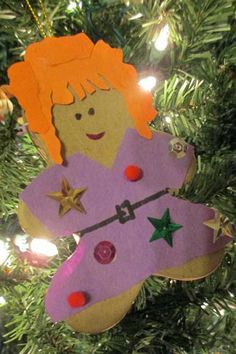 Gingerbread Book Character Ornament (Mrs. Frizzle)