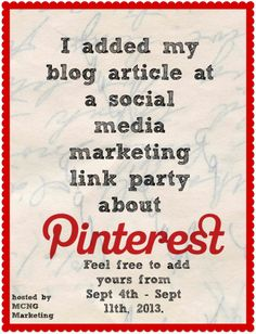I added my blog article! Feel free to add your article about Pinterest at our professional Pinterest link party.