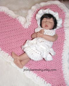 Baby Heart and Ruffle Outfit Photo Prop Backdrop  by pixieharmony, $69.95
