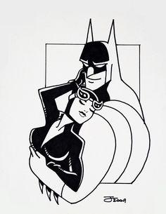 Batman and Catwoman by TheBlackCat-Gallery.deviantart.com