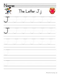 Letter J Handwriting Practice - Have Fun Teaching