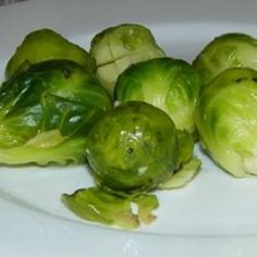 Garlic brussels sprouts.