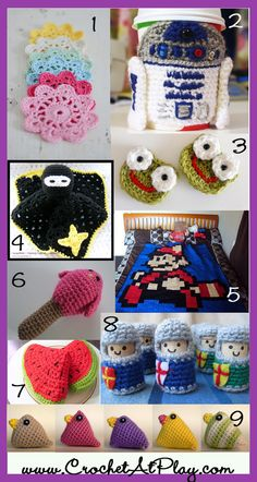 9 free crochet patterns