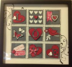Valentine Frame/sampler. Link goes to Stampin Up demonstrator only website but picture is cute