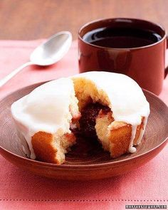 Individual Strawberry-Jam Cakes Recipe