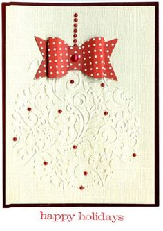 Couture Creations Embossing Folder - Very Xmas Light, Sizzix Bows die