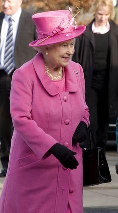 Queen Elizabeth in pink