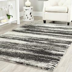 Found it at Wayfair - Retro Dark Grey & Light Grey Rug retro dark, decor ideasth, grey rug, gilt, hous, retro rug, dark grey, rugs, light grey