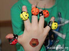 5 Ladybugs Fingerplay
