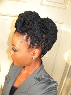 Another Hairstyle for Genie Locs / Yarn Braids on WOC | Just Me and 4C