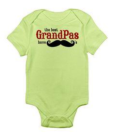 Loving this Kiwi 'The Best Grandpas Have Mustaches' Bodysuit - Infant on #zulily! #zulilyfinds