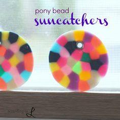 According to L: Pony Bead Suncatchers glass beads: http://www.ecrafty.com/c-2-glass-beads.aspx
