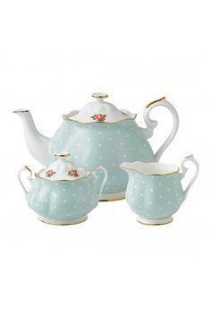 Royal Albert Polka Rose Tea Set [ a great gift for a bridal shower! ]