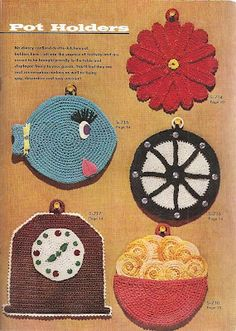 pot holders crochet