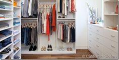 idea, custom closets, california closet, closet organization, master bedrooms, master closet, closet space, organized closets, bedroom designs