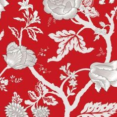 The Wallpaper Company 56 sq. ft. Kendal Red Wallpaper-WC1287331 at The Home Depot