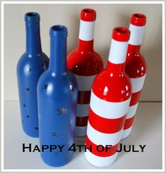 Paint a wine bottle and use as decor