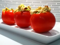 A great curried chicken salad stuffed tomato recipes #recipe #healthy