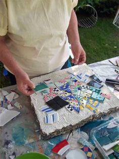 mosaic stepping stone tiles tutorial
